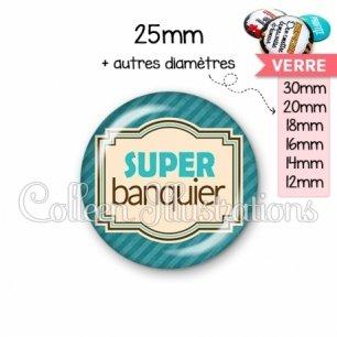 Cabochon en verre Super banquier (004BLE01)