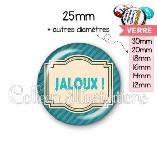 Cabochon en verre Jaloux (004BLE01)