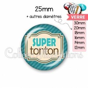 Cabochon en verre Super tonton (004BLE01)