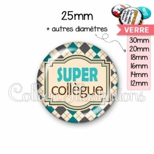 Cabochon en verre Super collegue (004MUL01)
