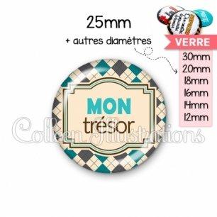 Cabochon en verre Mon trésor (004MUL01)