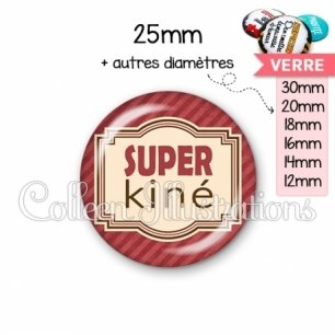 Cabochon en verre Super kiné (004ROU01)
