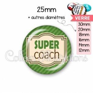 Cabochon en verre Super coach (004VER01)