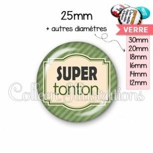 Cabochon en verre Super tonton (004VER02)