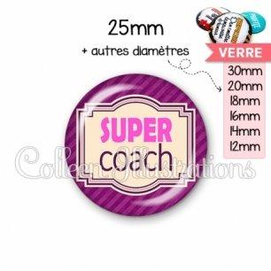 Cabochon en verre Super coach (004VIO02)