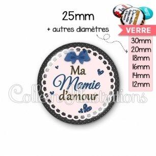 Cabochon en verre Mamie d'amour (005BLE07)