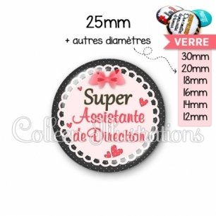 Cabochon en verre Super assistante de direction (005ROS01)