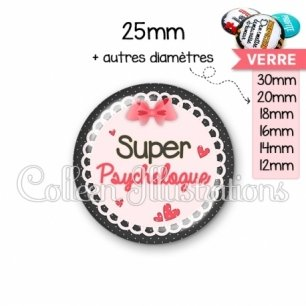 Cabochon en verre Super psychologue (005ROS01)