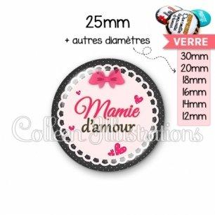 Cabochon en verre Mamie d'amour (005ROS04)