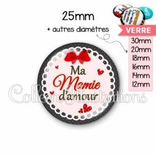 Cabochon en verre Mamie d'amour (005ROU01)