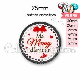 Cabochon en verre Mamy d'amour (005ROU01)