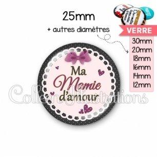 Cabochon en verre Mamie d'amour (005VIO01)
