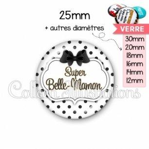 Cabochon en verre Super belle-maman (006BLA01)