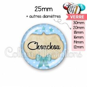 Cabochon en verre Chouchou (006BLE04)
