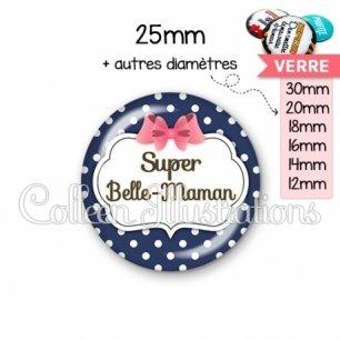 Cabochon en verre Super belle-maman (006BLE06)