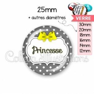 Cabochon en verre Princesse (006GRI05)