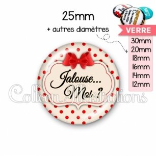 Cabochon en verre Jalouse (006MAR03)