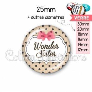 Cabochon en verre Wonder sister (006MAR04)