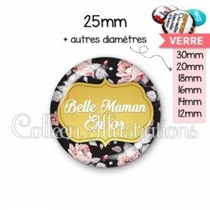 Cabochon en verre Belle-maman en or (006MUL12)