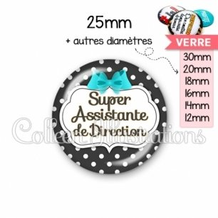 Cabochon en verre Super assistante de direction (006NOI03)