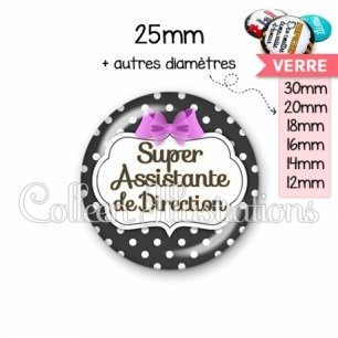 Cabochon en verre Super assistante de direction (006NOI09)