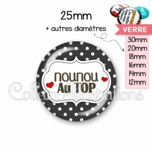 Cabochon en verre Nounou au top (006NOI11)