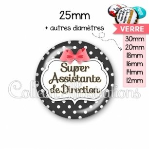 Cabochon en verre Super assistante de direction (006NOI13)