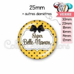 Cabochon en verre Super belle-maman (006ORA01)