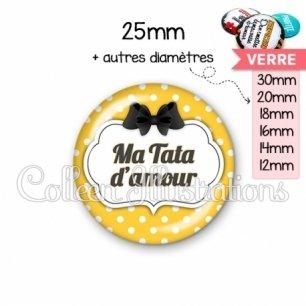 Cabochon en verre Tata d'amour (006ORA05)