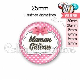 Cabochon en verre Maman gâteau (006ROS02)