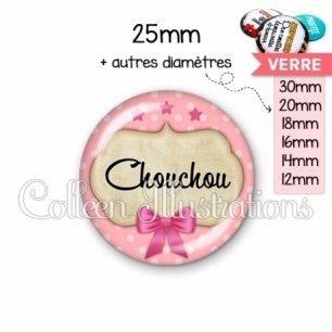 Cabochon en verre Chouchou (006ROS03)