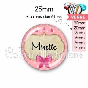 Cabochon en verre Minette (006ROS03)