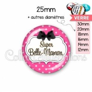 Cabochon en verre Super belle-maman (006ROS06)