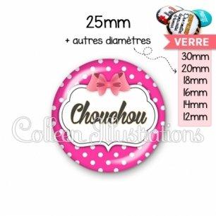 Cabochon en verre Chouchou (006ROS11)