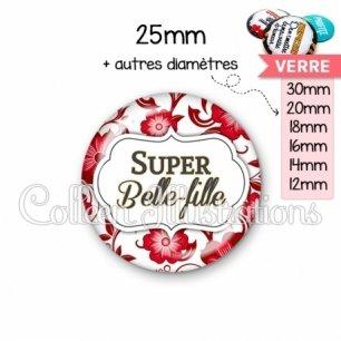 Cabochon en verre Super belle-fille (006ROU01)
