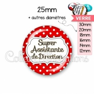 Cabochon en verre Super assistante de direction (006ROU02)