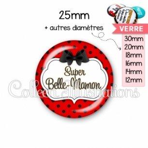 Cabochon en verre Super belle-maman (006ROU03)