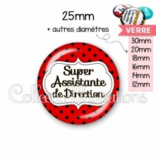 Cabochon en verre Super assistante de direction (006ROU04)
