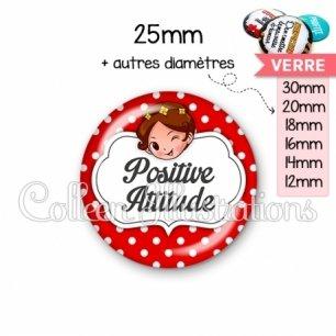 Cabochon en verre Positive attitude (006ROU10)
