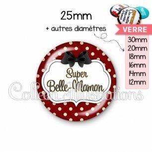 Cabochon en verre Super belle-maman (006ROU11)