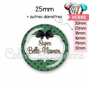 Cabochon en verre Super belle-maman (006VER02)