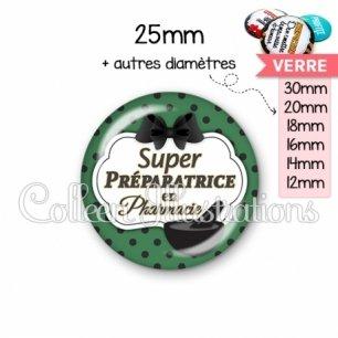 Cabochon en verre Super préparatrice en pharmacie (006VER02)