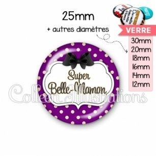 Cabochon en verre Super belle-maman (006VIO08)