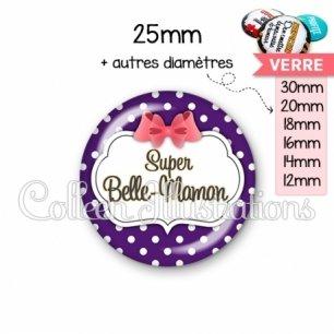 Cabochon en verre Super belle-maman (006VIO09)