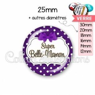 Cabochon en verre Super belle-maman (006VIO10)