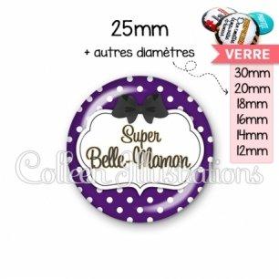 Cabochon en verre Super belle-maman (006VIO11)