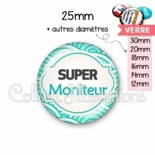 Cabochon en verre Super moniteur (011BLE02)