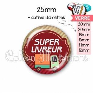 Cabochon en verre Super livreur (011MAR01)