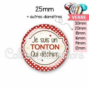 Cabochon en verre Tonton qui déchire (011ROU01)