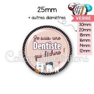 Cabochon en verre Dentiste qui déchire (012MAR01)